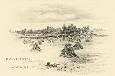 Yorkshire, Carlton Towers J. A. Symington antique print