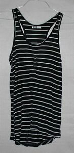 Mossimo-Women-039-s-black-tank-top-with-strips-SIZE-8