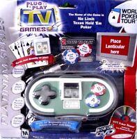 Jakks Pacific World Poker Tour Plug & Play Game Texas No Limit Built In Memory