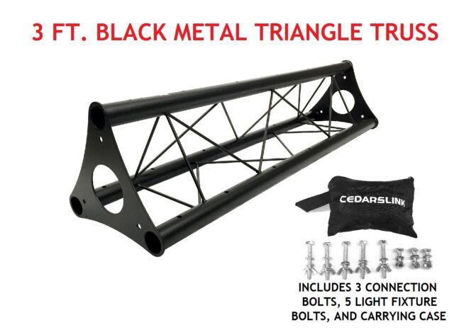 3 39 wide triangular trussing mobile dj lighting bolt truss system triangles for sale online ebay. Black Bedroom Furniture Sets. Home Design Ideas