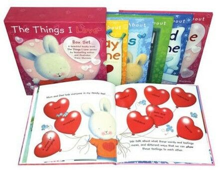 NEW The Things I Love 6 Books Box Set by Trace Moroney Kids Positive Attitude!