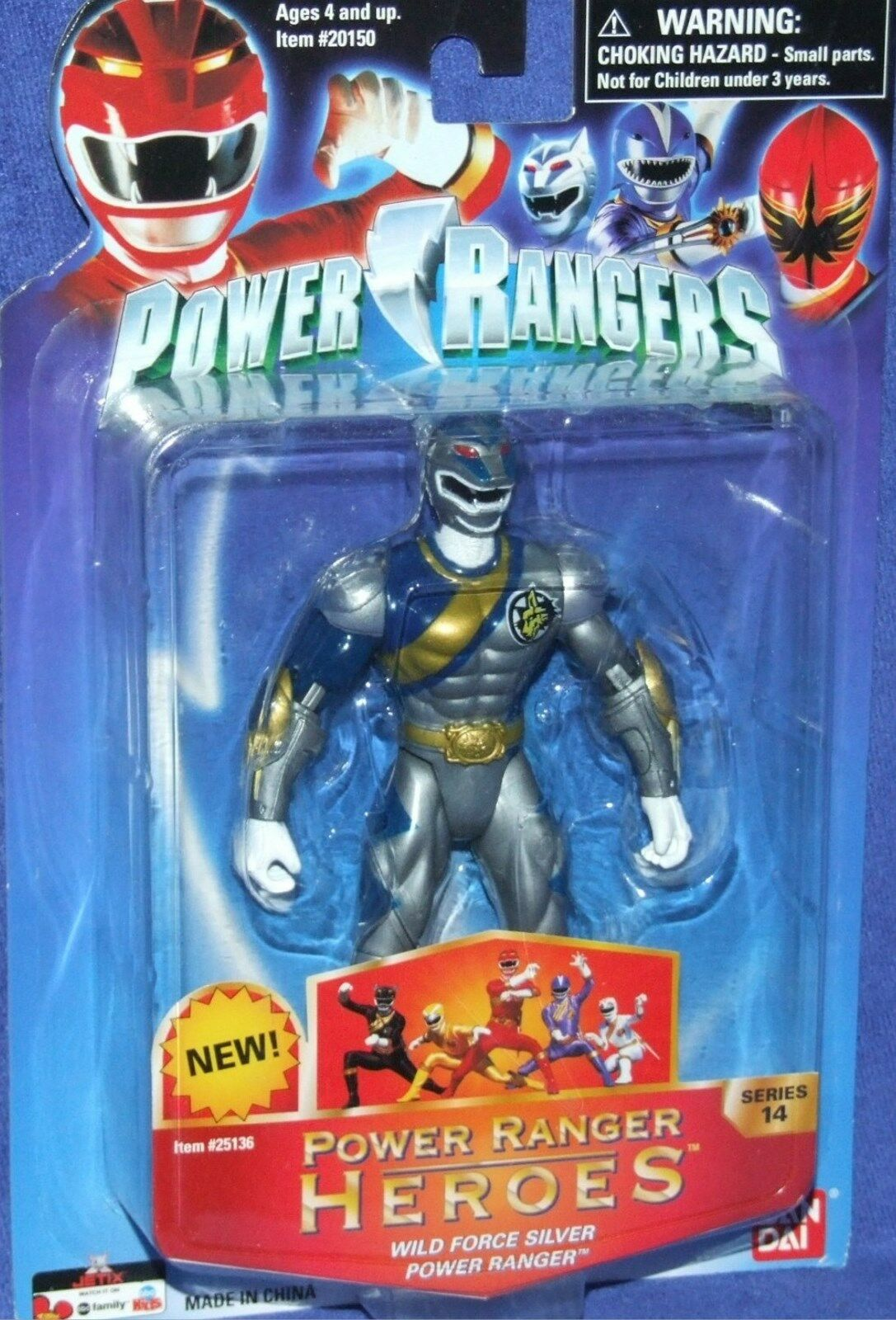 Energia  Rangers Wild Force Series 14 Heroes Lunar Wolf nuovo 5  Factory Sealed 2006  moda classica