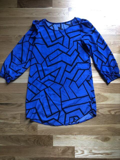Yetts Los Angeles Womens Dress Size Medium Blue And Black Anthroplogie