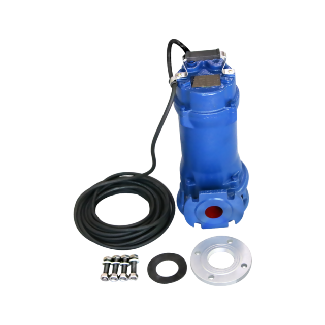 Industrial Sewage Cutter Grinder Sump Pump 44 GPM 110v 1 HP Submersible Red for sale online