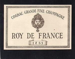 COGNAC VIEILLE LITHOGRAPHIE ROY DE FRANCE 1865 RARE §12-10-17§ Rehh1btv-09095801-609963645