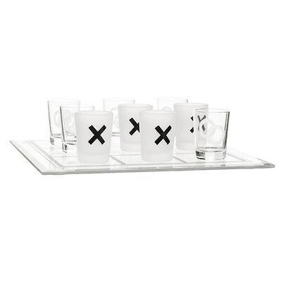 Sagaform Trinkspiel XOXO Glas transparent NEU + OVP