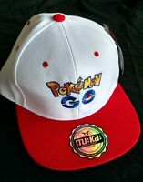 Pokemon Go Red White Snapback Hat Cap Fast Free Ship