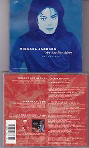 MAXI-CD-5T-MICHAEL-JACKSON-YOU-ARE-NOT-ALONE-THE-REMIXES-DE-1995-USA