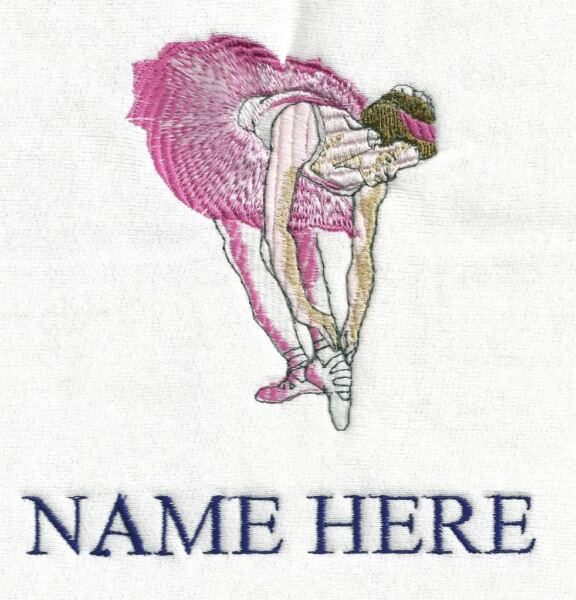 """personalized Embroidered Dancer Bath/swimming Towel"" 100% Cotton"