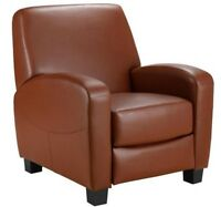 Faux Leather Reclining Home Theater Chair, Multiple Colors