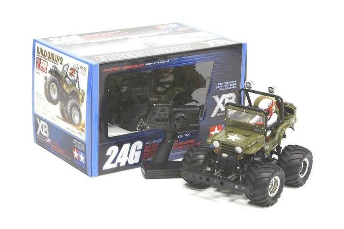 57743 Tamiya XB Pro Wild Willy II Jeep listo construido, listo para correr RC coche 2.4Ghz