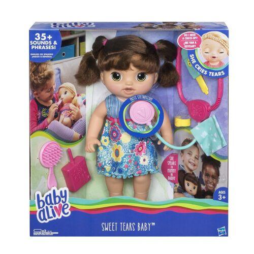Baby Alive Sweet Larmes Bébé brune Interactive Doll-NEW EN STOCK