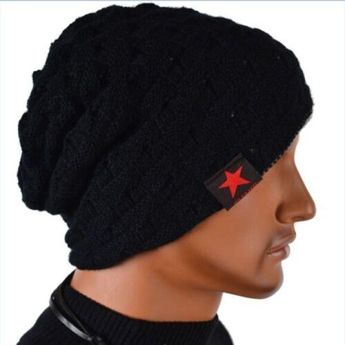 Knit Hat Baggy Snow Caps Men Hat Women Hat Reversible Beanie Hat Winter Autumn