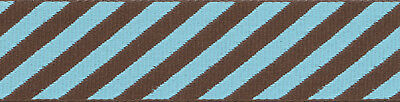 Country Brook Design® Robin's Egg Stripes Grosgrain Ribbon Uitverkoop Totale Korting 50-70%