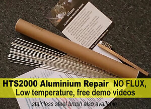 Aluminium Rods ALUMINIUM REPAIR braze weld solder low temp NO FLUX HTS2000 - <span itemprop='availableAtOrFrom'>Swindon, United Kingdom</span> - Aluminium Rods ALUMINIUM REPAIR braze weld solder low temp NO FLUX HTS2000 - Swindon, United Kingdom