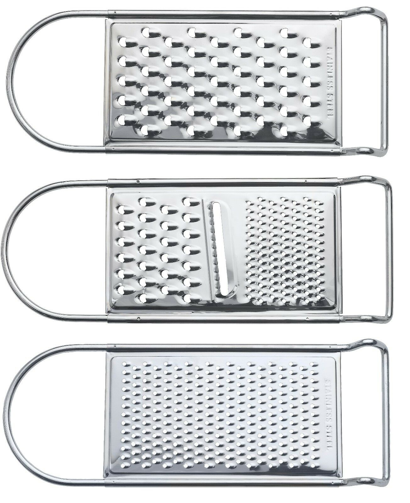 Microplane 3Ional Coarse Grater Stainless Steel Kitchen Cooking Grip Large Safe