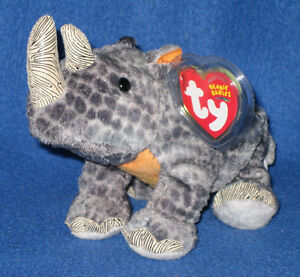 cf25039aa5b TY NAMI the RHINO BEANIE BABY - MINT with MINT TAGS - WWF EXCLUSIVE ...