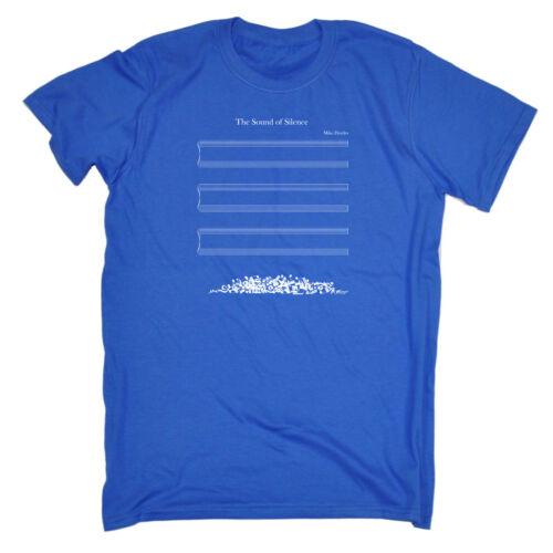 Divertenti Novità T-Shirt UOMO Tee T-SHIRT-THE Sound of Silence