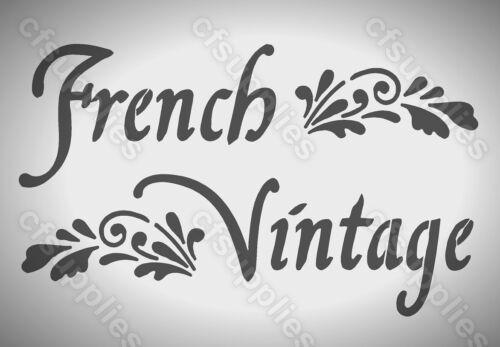 MYLAR STENCIL Shabby Chic FRENCH VINTAGE Craft Art 125//190 micron A3//A4//A5 239
