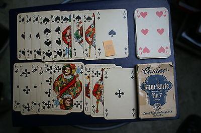 (1381) Antike Spielkarten Casino Spielkartenfabrik Stuttgart Tapp-karte Nr. 7 SorgfäLtig AusgewäHlte Materialien