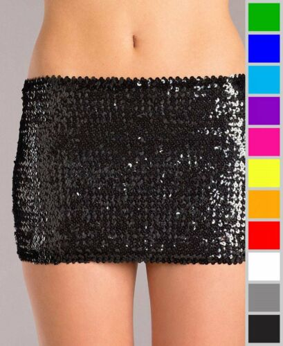 New Be Wicked BW1677 Sequin Stretch Mini Skirt