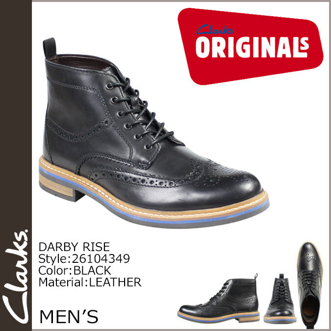 Clarks Mens  X DARBY RISE  BLACK LEATHER  SMART & TRENDY  UK 8,9,10,11 G