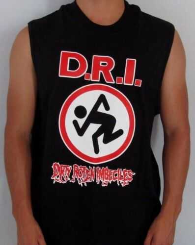 DIRTY ROTTEN IMBECILES PUNK ROCK  SLEEVELESS SHIRT MENS SIZES