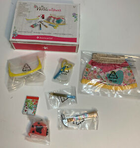 American Girl Wellie Wishers Doll Make It Great Play Set Tools Apron Pen Hammer