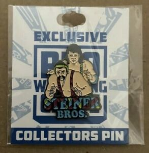 Pro-Wrestling-Crate-STEINER-BROTHERS-Lapel-PIN-WWE-WWF-NXT-AEW-WCW-ECW-NWA-ROH