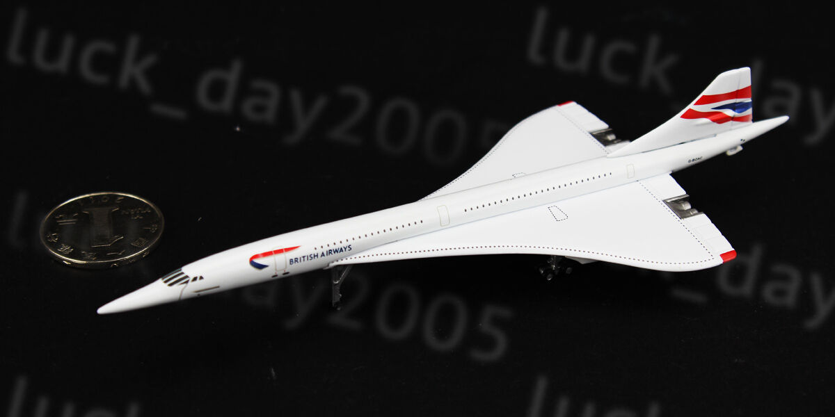 Gemini Jets British Airways Concorde G-BOAC 1 400 Diecast Model