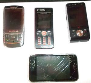 4 Défectueux Téléphones Portables-iphone, 2 Xsony Ericsson, Samsung-pour Bricoleur-2xsony Ericsson,samsung-für Bastlerafficher Le Titre D'origine