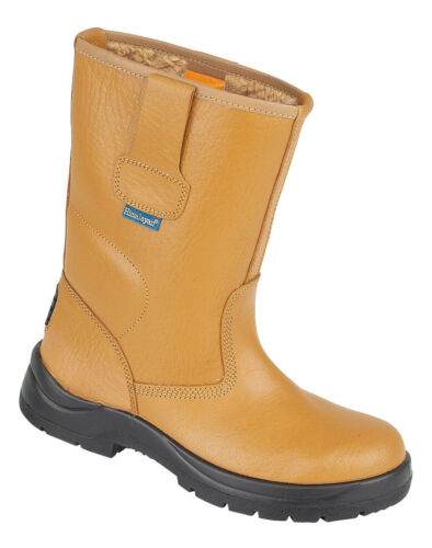 Himalayan Unisex Safety Rigger Boots Water Resistant Steel Toe Cap Fur Lined S1P