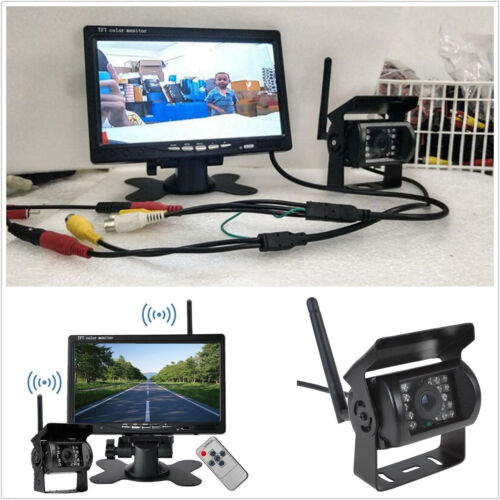 "Inalámbrico para coche de 7/"" LCD TFT Monitor HD Cámara Retrovisor de reversa ir 120 grados Sistema"