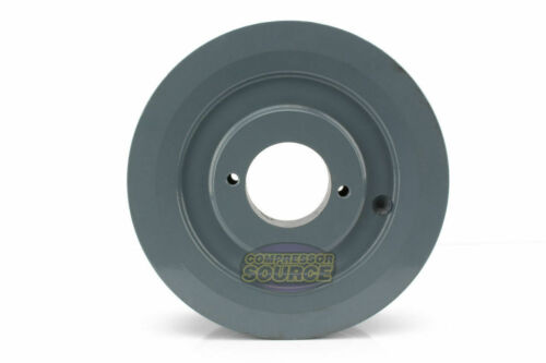 """B Section Dual Groove 2 Piece 6/"""" Pulley w// 1/"""" Sheave Shiv Cast Iron 5L V Belt"""