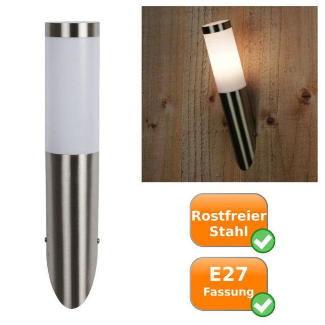 E27 acciaio inox spazzolato acciaio ip44 ARGENTO VINTAGE