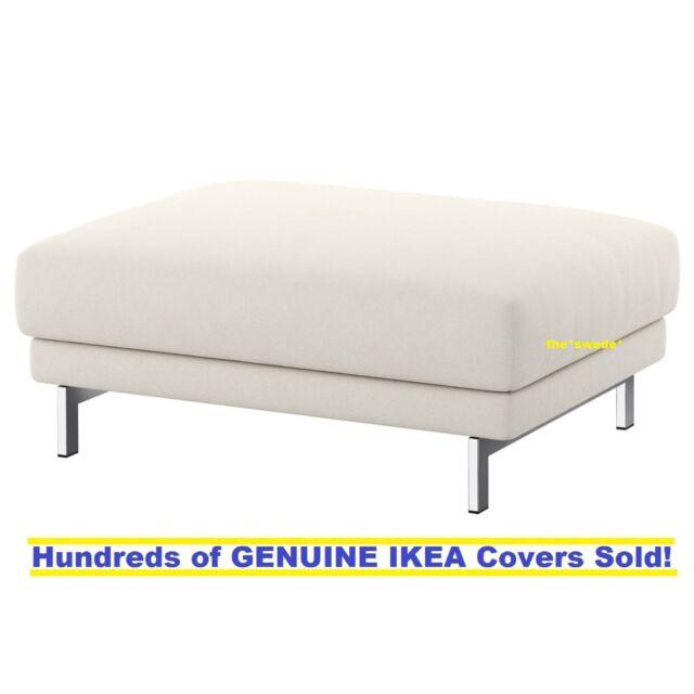 Ikea Nockeby Footstool Ottoman Cover Slipcover Tallmyra Light Beige New In Box