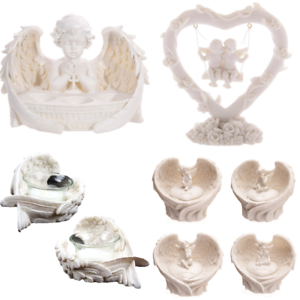 Tealight-Holder-Cherubs-Ornaments-Heart-Decorative-Love-Gifts-Home-Collectable