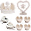 Tealight-Holder-Cherubs-Ornaments-Heart-Decorative-Love-Gifts-Home-Collectable thumbnail 1