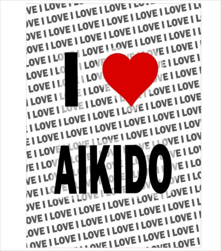 I Love Aikido A3 Poster Gift Birthday Christmas Stocking Filler