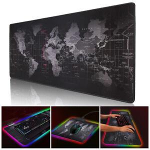 Gaming Mouse Pad RGB Grande Computadora Alfombrilla de ratón Luz...