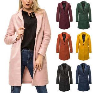 new styles 53d84 8a106 Details zu Only Damen Kurzmantel Long Blazer Übergangsmantel Damenmantel  Business Mantel