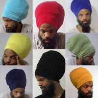 Men- Black Stretch Hat - Locs Hat - Rasta Hat - 5 Length Options Hippy Headwear