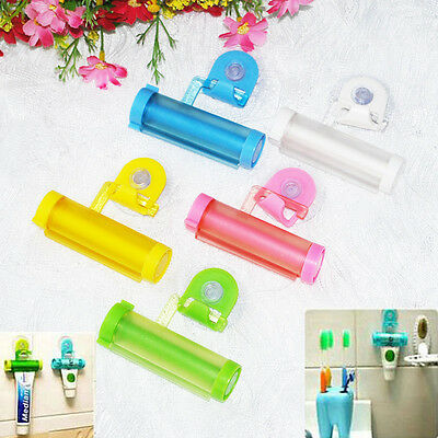Plastic Rolling Tube Squeezer Toothpaste Easy Dispenser Bathroom Holder Colorful