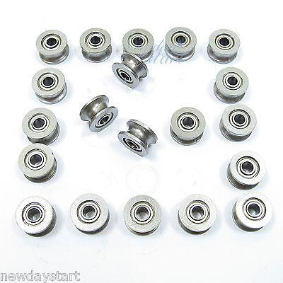 20pcs 624UU U Groove Sealed Ball Bearings Ugroove 4 X 13 X 7mm 2mm deep