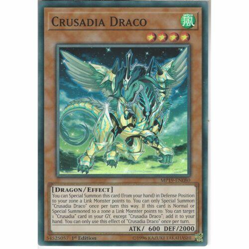 MP19-EN080 Crusadia Draco1st EditionSuper Rare CardYuGiOh TCG Mega Pack