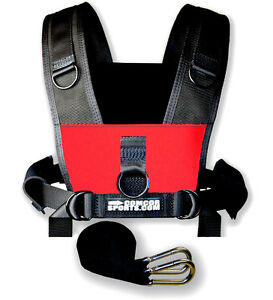 Combat-Core-Sled-Harness-Adults-to-50-034-Girth-Red