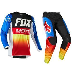 2020 FOX RACING 180 MOTOCROSS MX BIKE KIT PANTS JERSEY - FYCE BLUE / RED