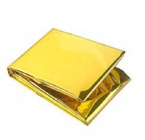 Urgence Solaire Couverture de survie sécurité isolante Mylar thermique Gold-Pack de 10
