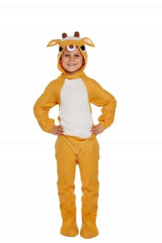 Childs Reindeer Fancy Dress Nativity Christmas Dressing Up Outfit Age 3-12 Years