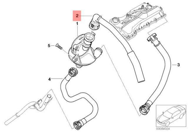 Genuine Bmw E46 E83 E85 E87 Oil Separator Breather Valve Oem